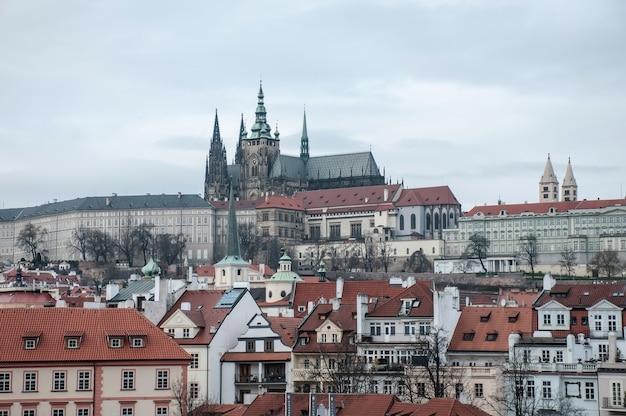 Urban views of prague city in europe