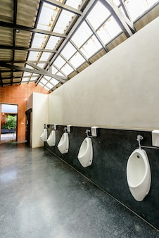 Urinals in public toilet