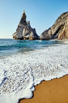 Ursa beach under the cliff