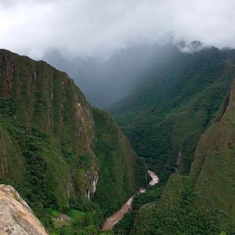 Urubamba river, machu picchu, cusco region, peru