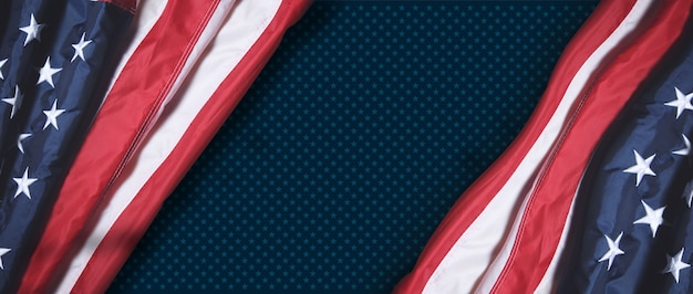 Us american flag. for usa memorial day, veteran's day, labor day, or 4th of july celebration.