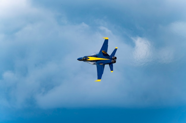 Us blue planes perform in air show