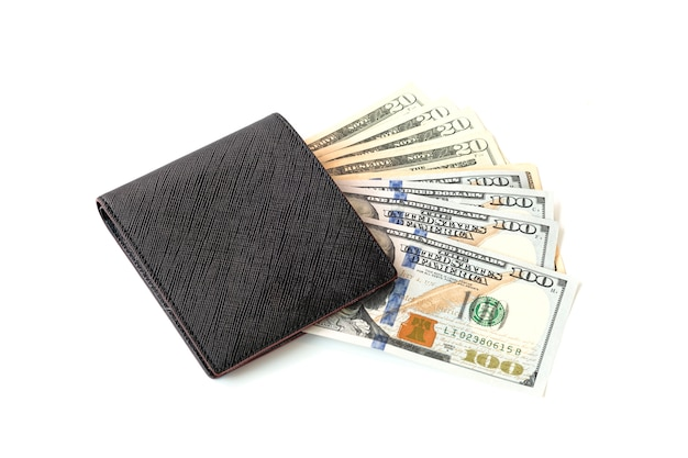 Us dollar inside wallet. us dollar is main and popular currency of exchange in the world. investment and saving concept.