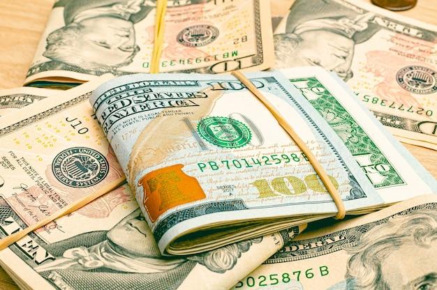 근접 촬영에서 미국 달러 usd 달러 지폐