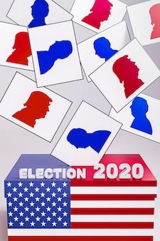 Концепция выборов сша с флагом америки