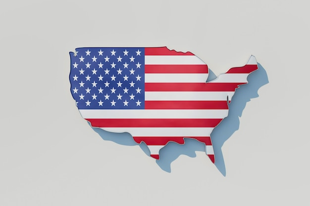 Us elections concept with america flag