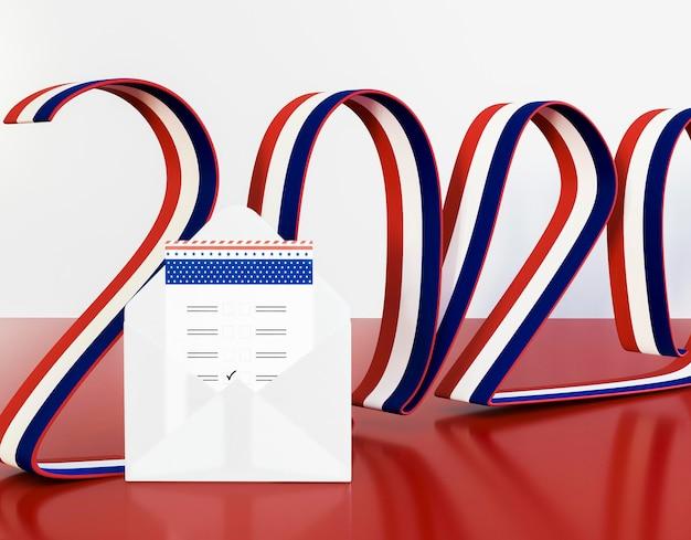 Concetto di elezioni degli stati uniti con la bandiera americana