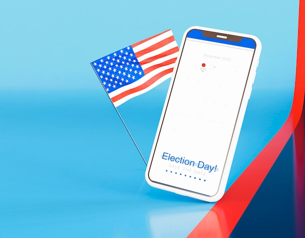 Us elections concept with copy space