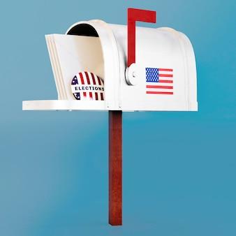 私たちの選挙は旗で概念を投票します