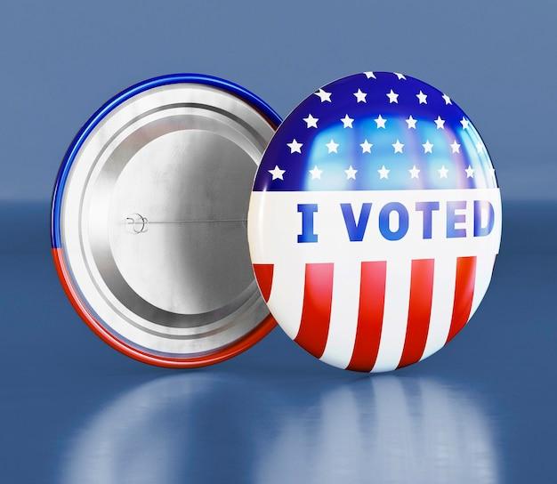 Концепция голосования сша выборы с флагом
