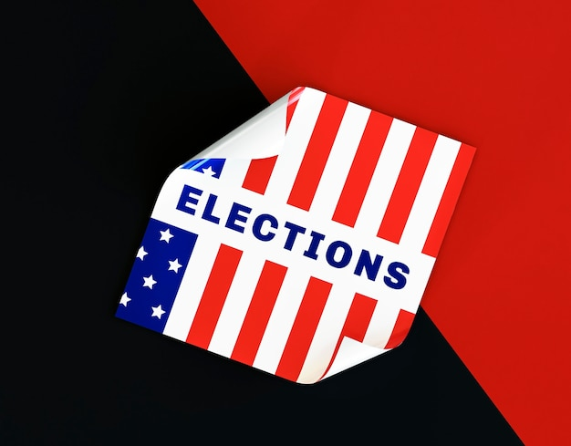 Us elections vote concept with flag