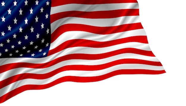 Usa or american flag isolated