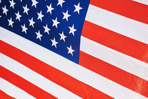 Usa american national flag as a background, close up