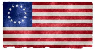 Usa betsy ross bandiera grunge