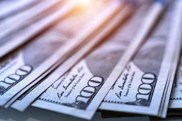 미국 달러. 선택적 포커스가 있는 매크로 이미지입니다. 돈.