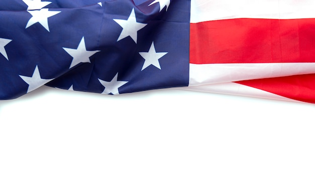 Usa flag isolated on white background, can be use for memorial day, labour day, 4th of july etc