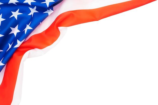 흰색 바탕에 미국 국기