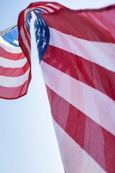 Usa flag in sky