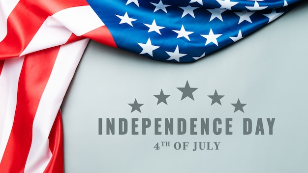 Usa independence day 4th of july concept, united states of america flag Premium Photo