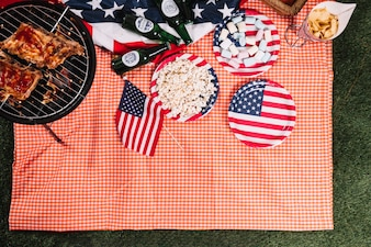 Usa independence day concept with barbecue