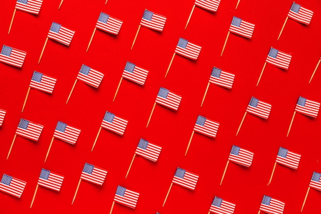 Usa independence day concept with flags pattern