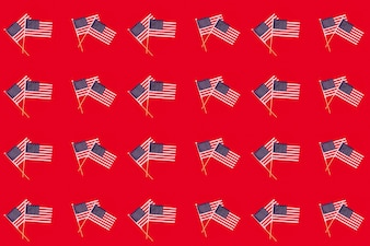 Usa independence day concept with pattern of flags