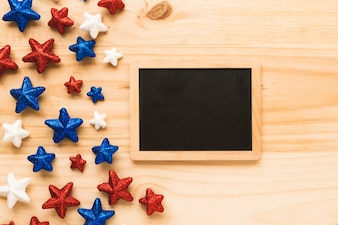 Usa independence day concept with slate