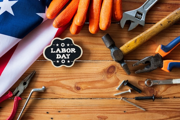 米国労働日の概念、9月の最初の月曜日。