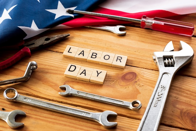Usa labor day concept, first monday in september.