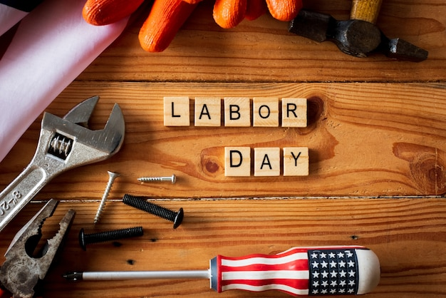 Usa labor day concept, first monday in september