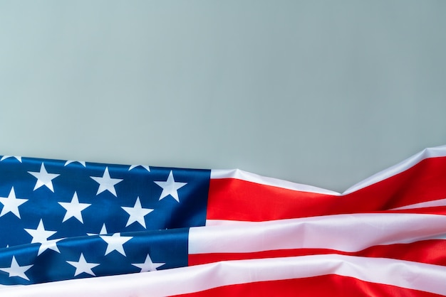 Usa memorial day and independence day concept, united states of america flag