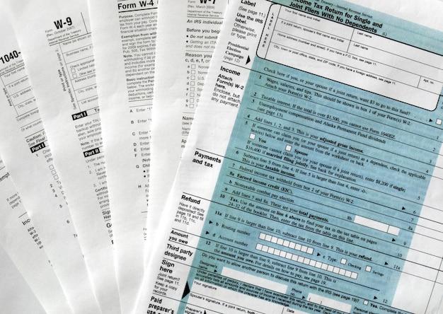 Налоговые формы сша