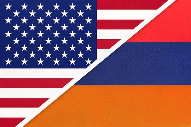 Usa vs armenia national flag