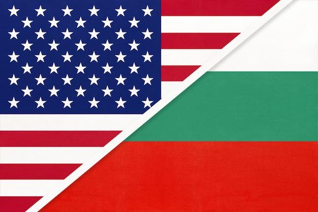 Usa vs bulgaria national flag