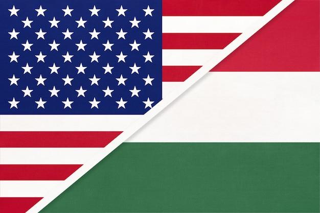 Usa vs hungary national flag