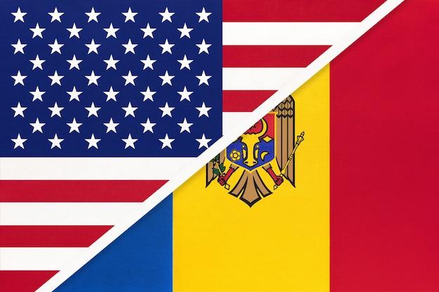 Usa vs moldova national flag