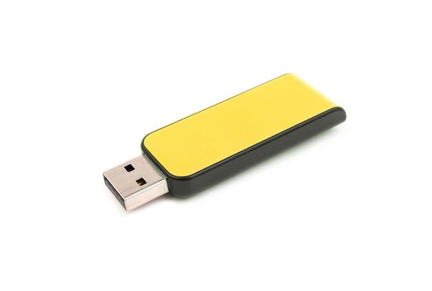 Флэш-накопитель usb yellow изолирован