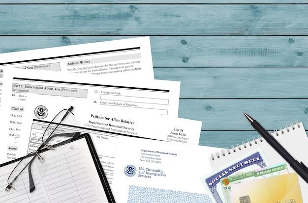 Uscis форма i-130 петиция для иностранного родственника