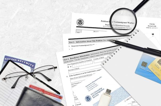 Uscis форма i-129 петиция для неиммиграционного работника