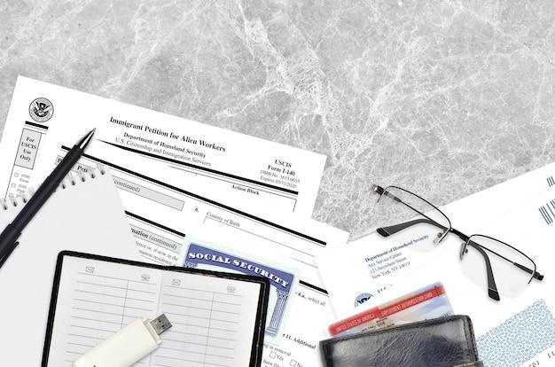 Uscis форма i-140 иммиграционная петиция для иностранных рабочих