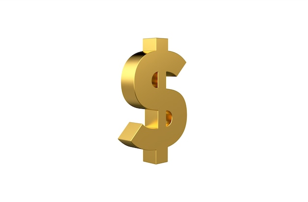 Usd united states currency symbol in 3d
