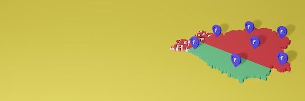 Использование и распространение социальной сети facebook в беларуси для создания инфографики в 3d-рендеринге