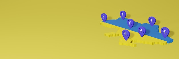 Использование и распространение социальной сети facebook в украине для инфографики в 3d-рендеринге
