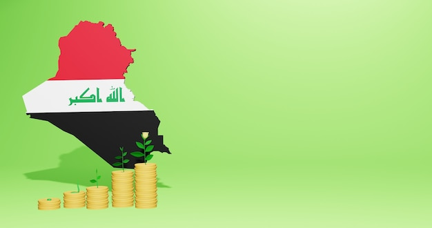 Use of bank interest in iraq for the needs of social media tv and website background cover