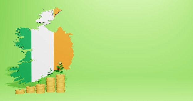 Use of bank interest in ireland for the needs of social media tv and website background cover