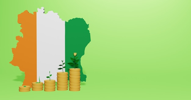 Use of bank interest in ivory coast for the needs of social media tv and website background cover