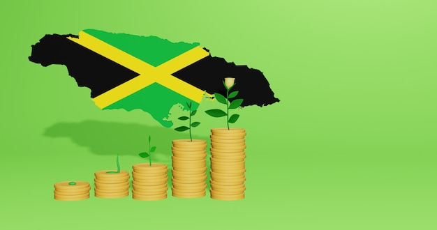 Use of bank interest in jamaica for the needs of social media tv and website background cover