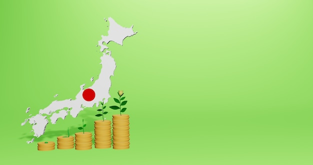 Use of bank interest in japan for the needs of social media tv and website background cover