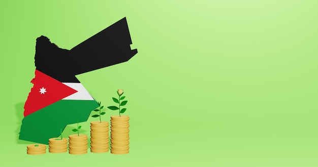 Use of bank interest in jordan for the needs of social media tv and website background cover