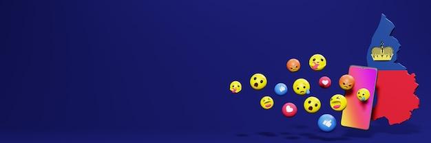 Используйте смайлик из социальных сетей в лихтенштейне для нужд телевидения и веб-сайтов в социальных сетях
